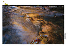 Carry-all Pouch featuring the photograph Zion Gold by Dustin LeFevre