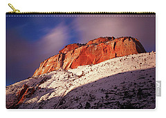 Zion's East Temple At Sunset Carry-all Pouch
