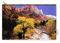 Carry-all Pouch featuring the photograph Zion's Watchman by Norman Hall