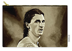 Zlatan Ibrahimovic Sepia Carry-all Pouch by Paul Meijering