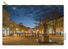 Zmaj Jovina Street In Moonlight Carry-all Pouch by Jivko Nakev