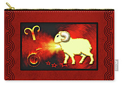 Zodiac Sign Aries - Widder Carry-all Pouch