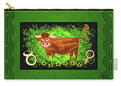 Zodiac Sign Taurus - Stier Carry-all Pouch