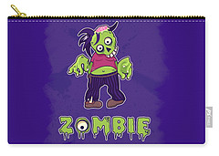 Carry-all Pouch featuring the digital art Zombie by Julia Art