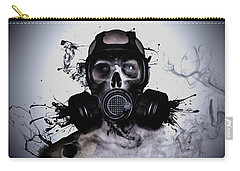Carry-all Pouch featuring the photograph Zombie Warrior by Nicklas Gustafsson