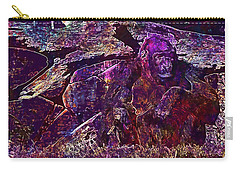 Carry-all Pouch featuring the digital art Zoo Monkey Animal  by PixBreak Art