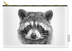 046 Zorro The Raccoon Carry-all Pouch by Abbey Noelle