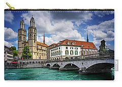 Carry-all Pouch featuring the photograph Zurich Old Town  by Carol Japp