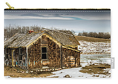 Abondened Old Farm Houese And Estates Dot The Prairie Landscape, Carry-all Pouch