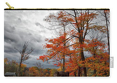 Carry-all Pouch featuring the photograph An Autumn Day At Chestnut Ridge Park by Guy Whiteley