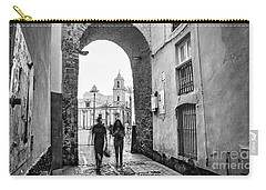 Carry-all Pouch featuring the photograph Arch Of The Rose Cadiz Spain by Pablo Avanzini