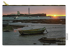 Carry-all Pouch featuring the photograph Beached Boats At Sunset Cadiz Spain by Pablo Avanzini