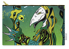Carry-all Pouch featuring the digital art Birdman by Sotuland Art