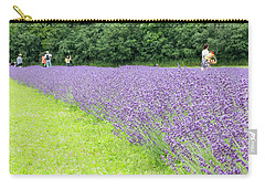 Blue Lavender Carry-all Pouch