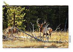 Carry-all Pouch featuring the photograph Bull Elk  by Pete Federico