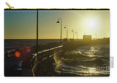 Carry-all Pouch featuring the photograph Caleta Walkway At Sunset Cadiz Spain by Pablo Avanzini