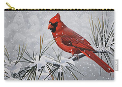 Cardinal In The Snow Carry-all Pouch