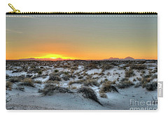 Carry-all Pouch featuring the photograph Desert Sunset by Joe Sparks
