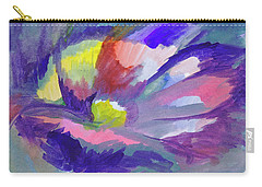 Carry-all Pouch featuring the painting Flowering Abstract 3 by Dobrotsvet Art
