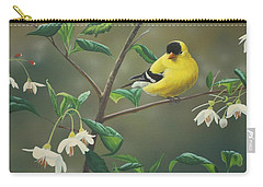 Goldfinch And Snowbells Carry-all Pouch