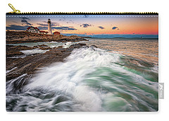 Carry-all Pouch featuring the photograph High Tide At Dusk by Rick Berk