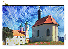 Carry-all Pouch featuring the digital art Kalvarienberg by Edmund Nagele