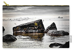 Lake Hurons Rocky Shore Carry-all Pouch