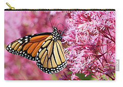 Carry-all Pouch featuring the photograph Monarch Butterfly by Debbie Stahre