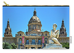 Carry-all Pouch featuring the photograph National Art Museum In Barcelona by Eduardo Jose Accorinti