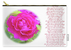 Pink Rose And Song Lyrics Carry-all Pouch