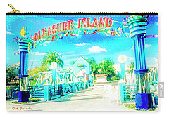 Pleasure Island Sign And Walkway Downtown Disney Carry-all Pouch