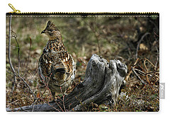 Carry-all Pouch featuring the photograph Ruffed Grouse 50701 by Rick Veldman