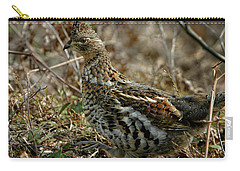 Carry-all Pouch featuring the photograph Ruffed Grouse 50702 by Rick Veldman