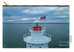 Carry-all Pouch featuring the photograph Sakonnet Lighthouse  by Michael Hughes