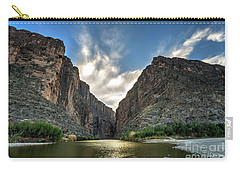 Carry-all Pouch featuring the photograph Santa Elena Canyon by Joe Sparks