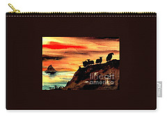Carry-all Pouch featuring the painting Sceilig Micil From Teraught, Kerry by Val Byrne