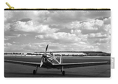 Carry-all Pouch featuring the photograph Silver Airplane Duxford England by Rick Veldman