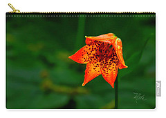 Carry-all Pouch featuring the photograph Single Orange Grays Lily by Meta Gatschenberger