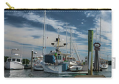 Carry-all Pouch featuring the photograph South Freeport Pier  by Guy Whiteley