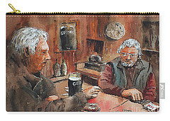 Carry-all Pouch featuring the painting The Knave Wins by Val Byrne