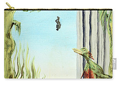 Carry-all Pouch featuring the painting The Origin Of Species -a Recurring Pattern- by Ryan Demaree