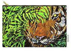 Tiger In Bamboo Carry-all Pouch