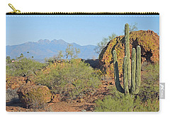 Carry-all Pouch featuring the photograph View To Four Peaks  by Lynda Lehmann
