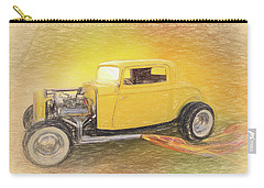 1932 Ford Coupe Yellow Carry-all Pouch