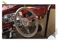 Carry-all Pouch featuring the photograph 1938 Pontiac Silver Streak Interior by Debi Dalio