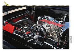 Carry-all Pouch featuring the photograph 1957 Chevrolet Corvette Engine by Debi Dalio