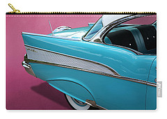 Carry-all Pouch featuring the photograph Turquoise 1957 Chevrolet Bel Air by Debi Dalio