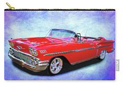 1958 Red Chevy Convertable Carry-all Pouch