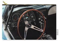 Carry-all Pouch featuring the photograph 1965 Chevrolet Corvette Convertible - Driver Side by Angie Tirado