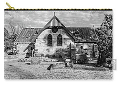 19th Century Sandstone Church In Black And White Carry-all Pouch